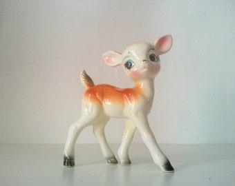 Figurita bambi  vintage porcelana/ bambi deer vintage porcelain figurine