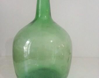 Damajuana antigua 8 litros / vintage damejane glass jug bottle