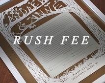 Rush Fee for Customized Ketubah