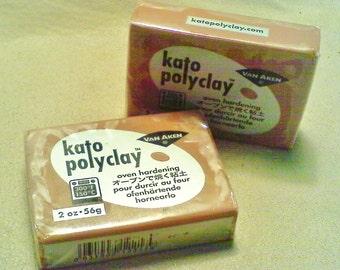 Kato polymer clay; 2oz. bar of 'brown' Kato polymer clay, 1-2/2.40-4.50.