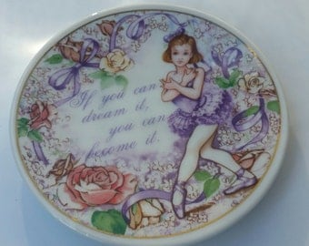 Vintage 1991 Enesco Plate / If You Can Dream It You Can Do It / Dreams / Inspirational / Motivational / Collectible Plate / Shabby Chic/Rare