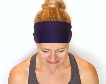 Fitness Headband - Workout Headband - Running Headband - Yoga Headband - Navy