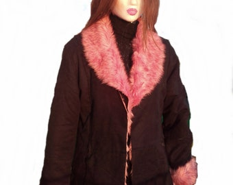 Feux Suede and Fur coat, SOLD ,do not buy.
