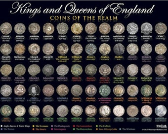 Kings & Queens Coin Poster - A3