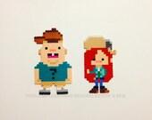 Gravity Falls Soos & Wendy Fused Bead Magnets - Custom Designs