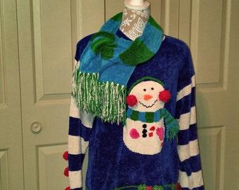 Snowman sweater, snow person sweater, snow, winter snowman, January snowman, February snowman