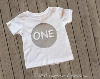 First Birthday ONE Boys top