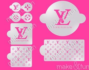 8pcs Designer Fashion Stencil, Lv Cake Stencil, Decoupage Stencil, Schablone