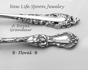 "Spoon Bracelet ""Choose Your Pattern"" Handmade Jewelry Flatware Bracelet Fork Jewelry Handmade Gift Spoon Ring Silver Bracelet -"