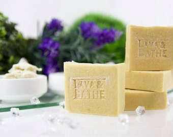 Germinated Brown Rice Soap, Organic Soap, Handmade Soap, All Natural Soap, Handcraft Soap -  3oz for Dry, Sensitive, All Skin Type