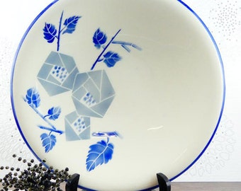 Antique French Dish Blue Transferware Lunéville Art Deco 1920 1930 - Large french platter - French platter - Salad bowl - French dishes