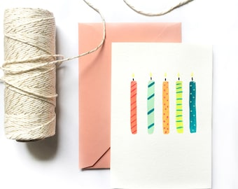 Birthday Card | Colorful Candles