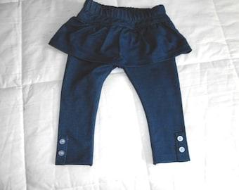 A vendre, bébé fille Leggings, jambières jupe, Leggings élastique à la taille, Bleu Denim, pantalon bébé, bébé vêtements, jeans Leggings, bébé filles
