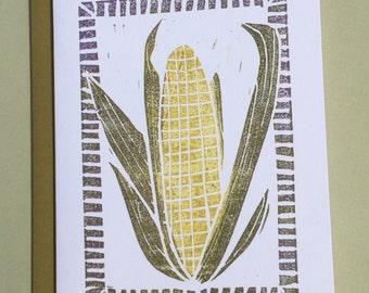 Corn Note Card