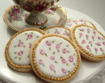Rose sugar cookies. Online cookie business