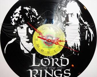 Vinyl Clock LOTR