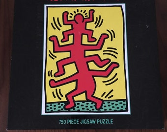 Vintage 90s Keith Haring Pop Art 750 Puzzle Piece Set Unused  Never Opened