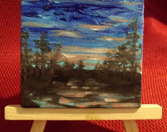 3 Inch Magnet Oil Painting