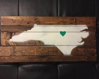 North Carolina Wood Sign