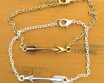 Dainty arrow bracelet