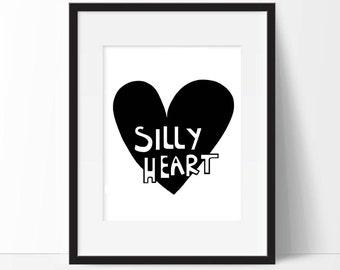 Children's heart uncle buck film quotes bedroom nursery print