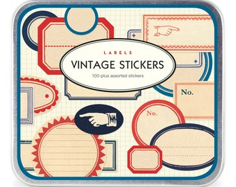 Cavallini and Co Vintage Stickers, Cavallini, Vintage Stickers, Stickers, Labels, Craft Supplies, Scrap Booking Supplies, Journal Supplies