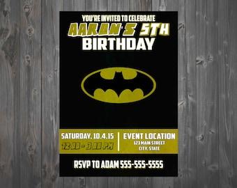 Minimalist Batman Invitation