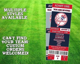 New York Yankees Invitation