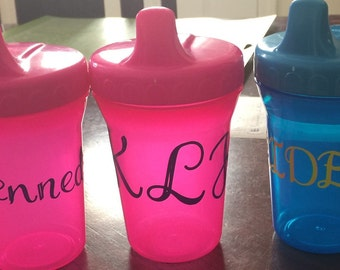 Custom baby sippy cups (set of 3