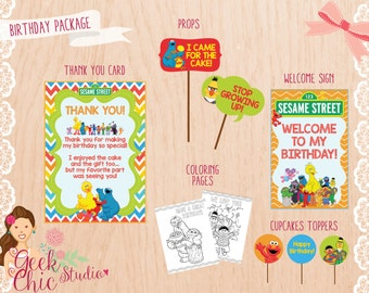 Sesame Street, Sesame Street birthday package, Sesame Street party package, Sesame Street party, Sesame Street birthday, Sesame Street DIY.
