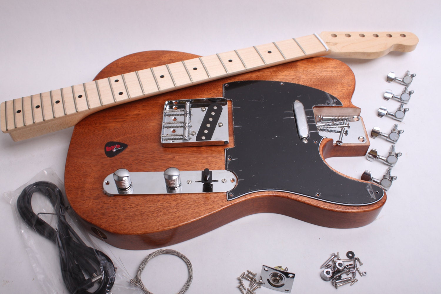 build your own electric guitar kit tele kit finished with. Black Bedroom Furniture Sets. Home Design Ideas