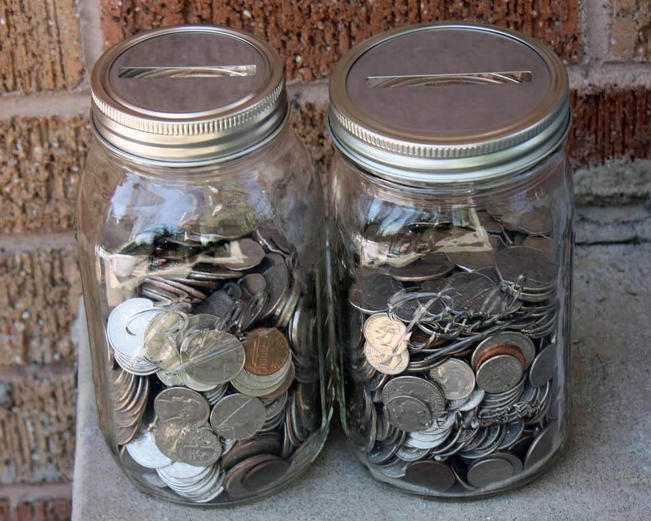 mason jar bank lid in regular or wide mouth coin slot bank. Black Bedroom Furniture Sets. Home Design Ideas