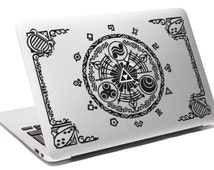 LEGEND OF ZELDA decal Gate of time Laptop decal Apple Macbook decal Hyrule kingdom decal Link decal Notebook decal