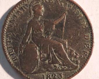 British George IV Farthing 1823