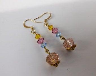 My Little Pony Pinkie Pie Themed Swarovski Crystal earrings