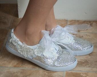 Bridal sneakers   Etsy