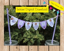 Sofia The First. Instant Digital Download. Template for Mini Cake Bunting.