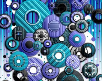 Circles 4 Abstract Canvas Print