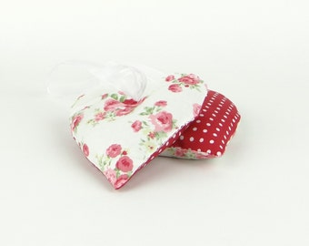Heart Lavender Sachet Gift Set of 2, Red and White