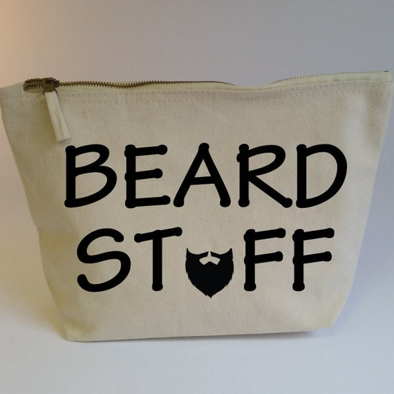 beard stuff accessory zip bag funny toiletry bag gift for. Black Bedroom Furniture Sets. Home Design Ideas