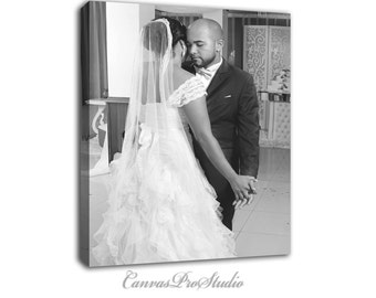 Christmas gift Wedding Photo to canvas, Picture on canvas, Family picture on canvas, Canvas gift, Cotton gift, Wedding canvas picture