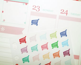 Mini Trolley/Shopping Cart Planner Stickers (TP162)