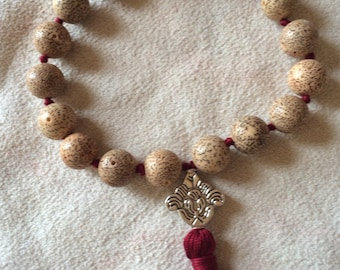 Lotus Seed Mala Beads,Pocket Mala, Buddist  Mala, Pocket Mala, Prayer Beads