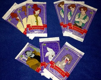 Lot of 9 PACKS, of Anastasia Movie Trading Cards by Upper Deck, 1998.