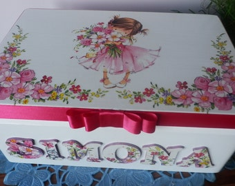 Personalized keepsake decoupage box