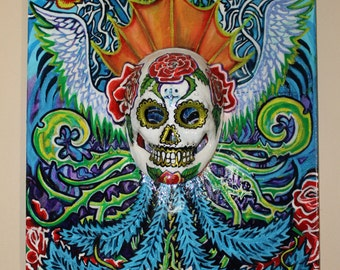 Day of the Dead with Extended Skull