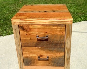 Reclaimed wood night stand