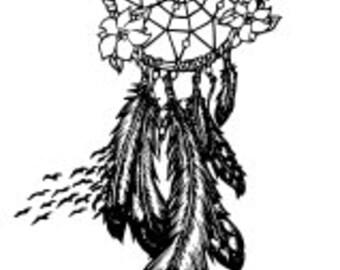 Nature Dream Catcher SVG file