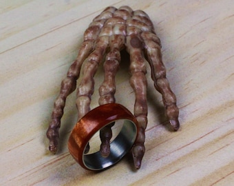 Handmade Ring With Stainless Steel Insert  (Copper)