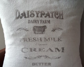 Grain sack inspired pillow covers--Daisypatch pattern